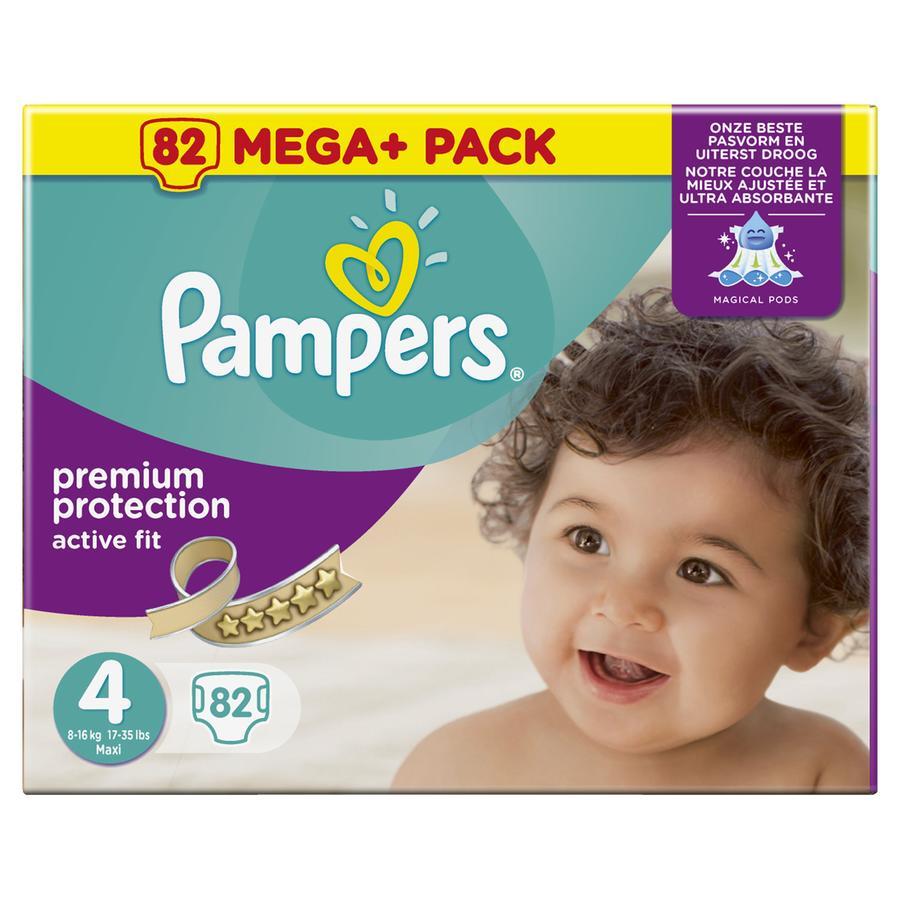 Pampers Couches Active Fit T. 4 Maxi (7-18 kg) Mega Plus Pack 82 pièces