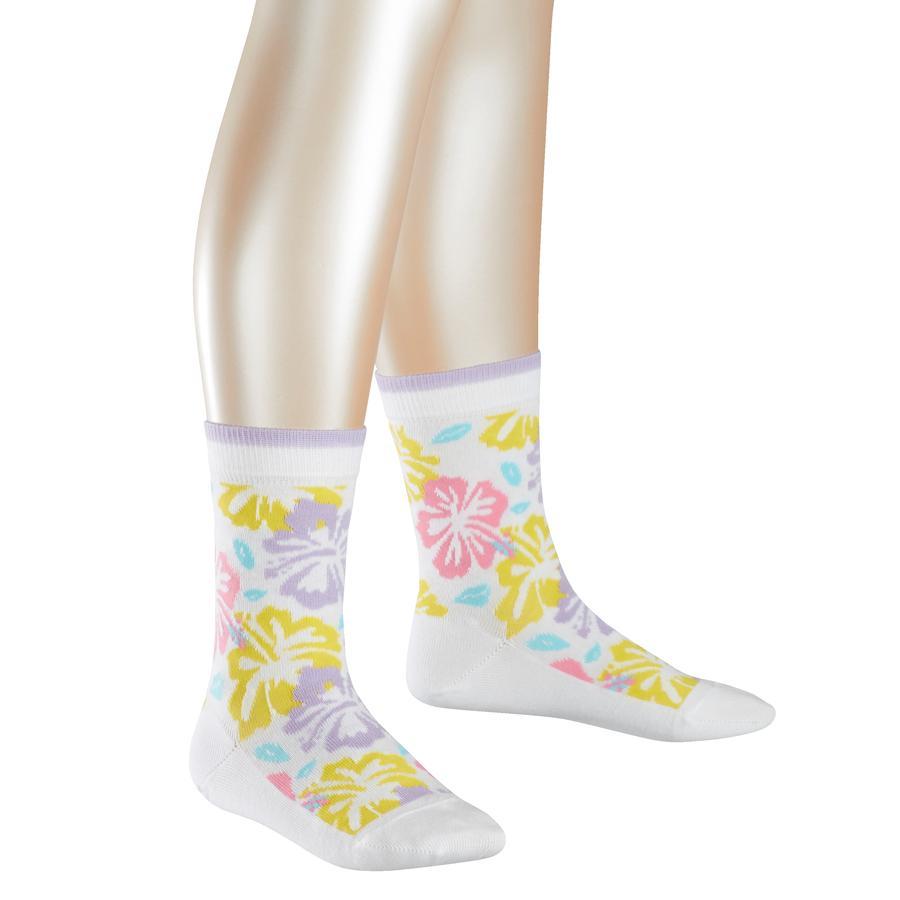 FALKE Socken Hibiscus white