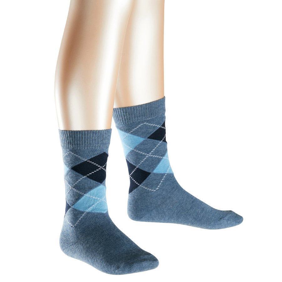 FALKE Socken Clas Argyle light denim