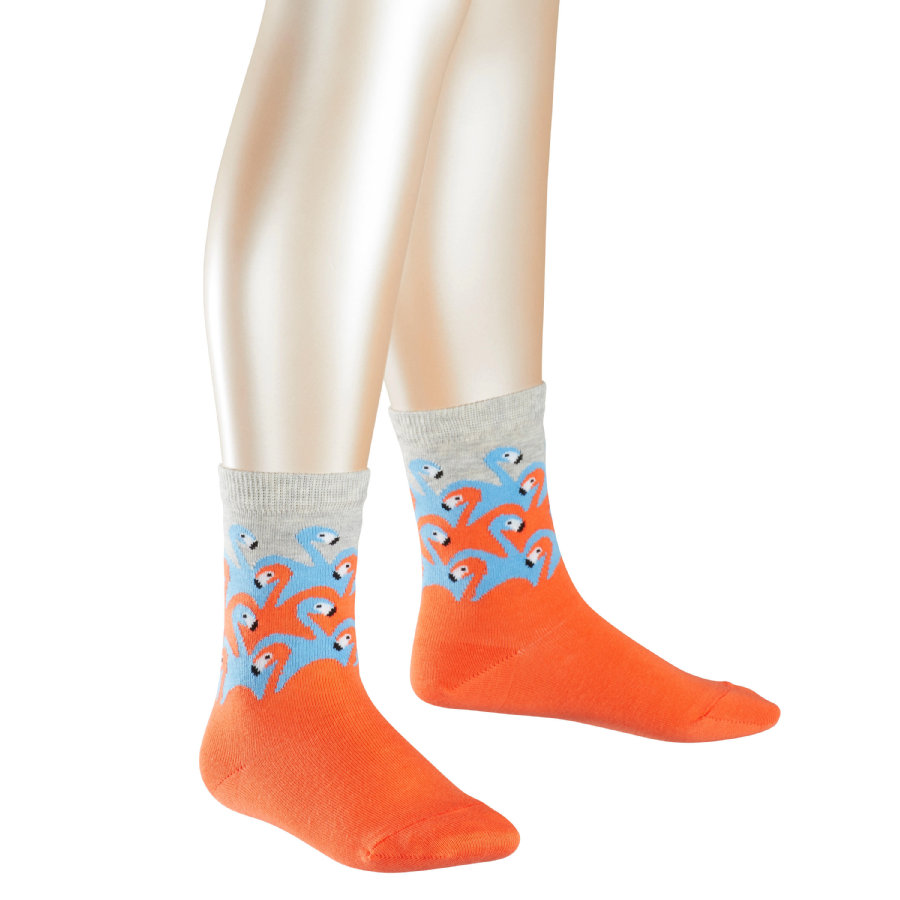 FALKE Socken Flamingo Army coral reef