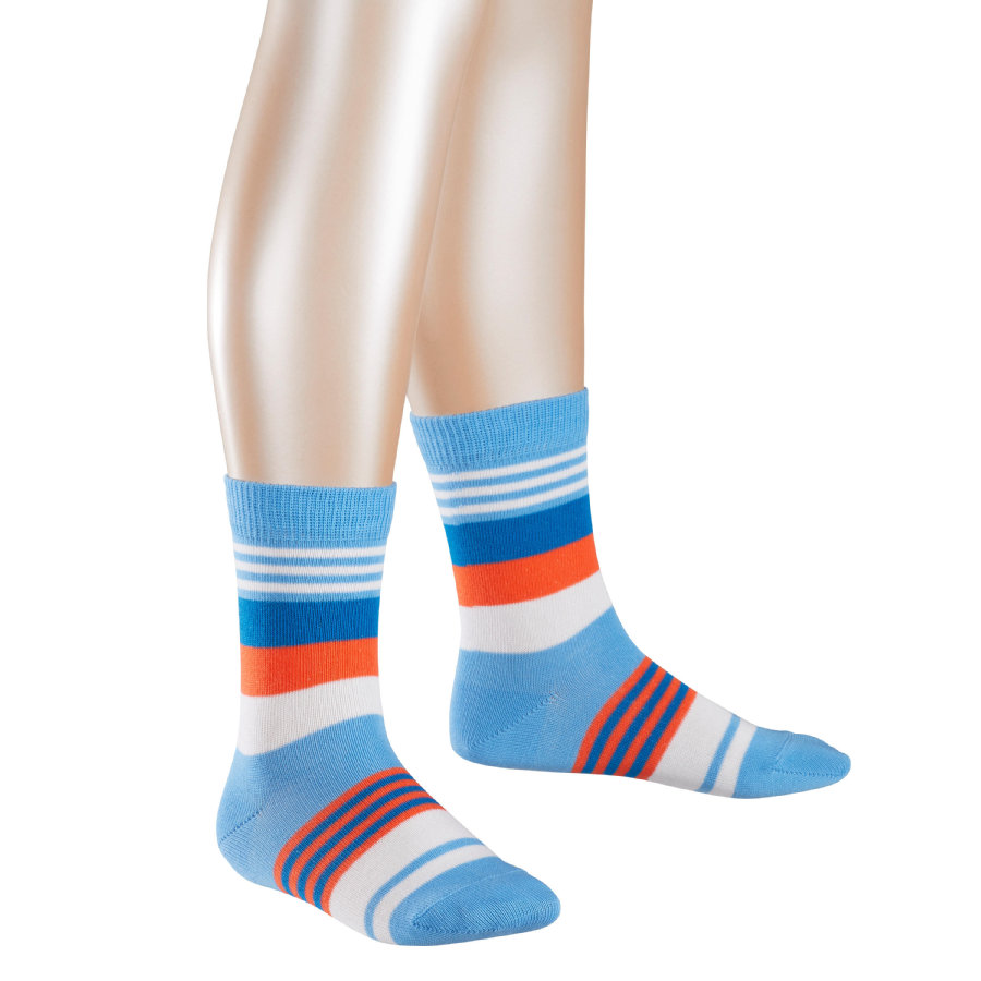 FALKE Socken Irregular Stripe skyblue