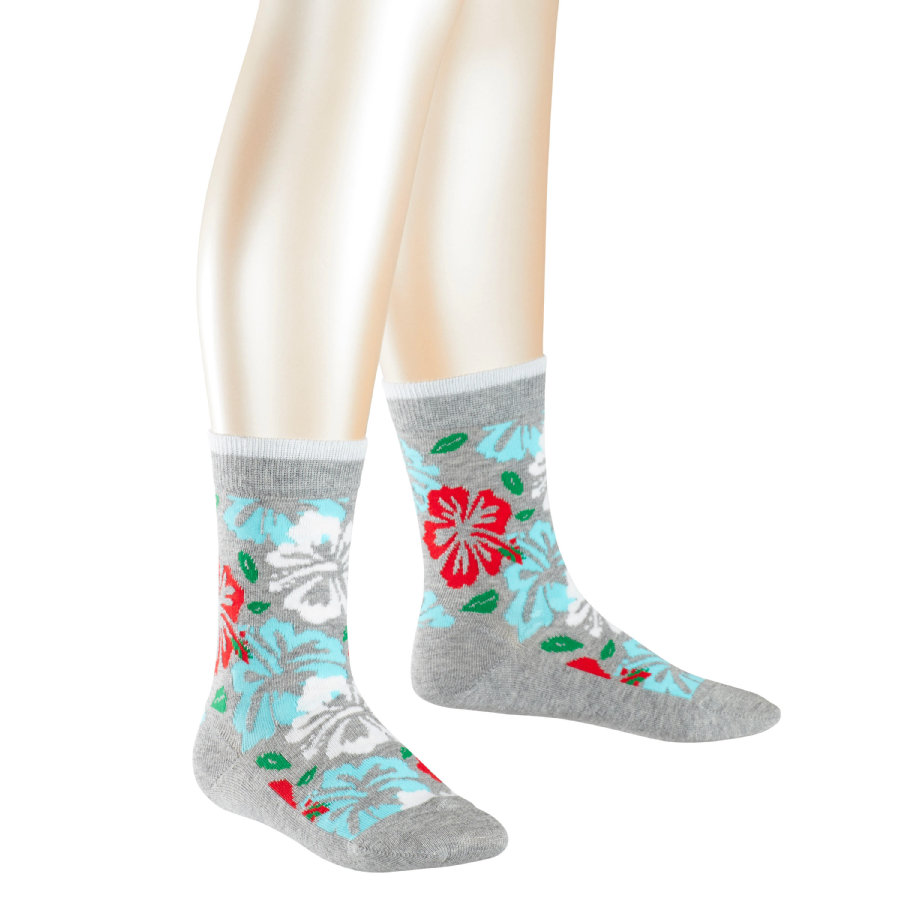 FALKE Socken Hibiscus light grey