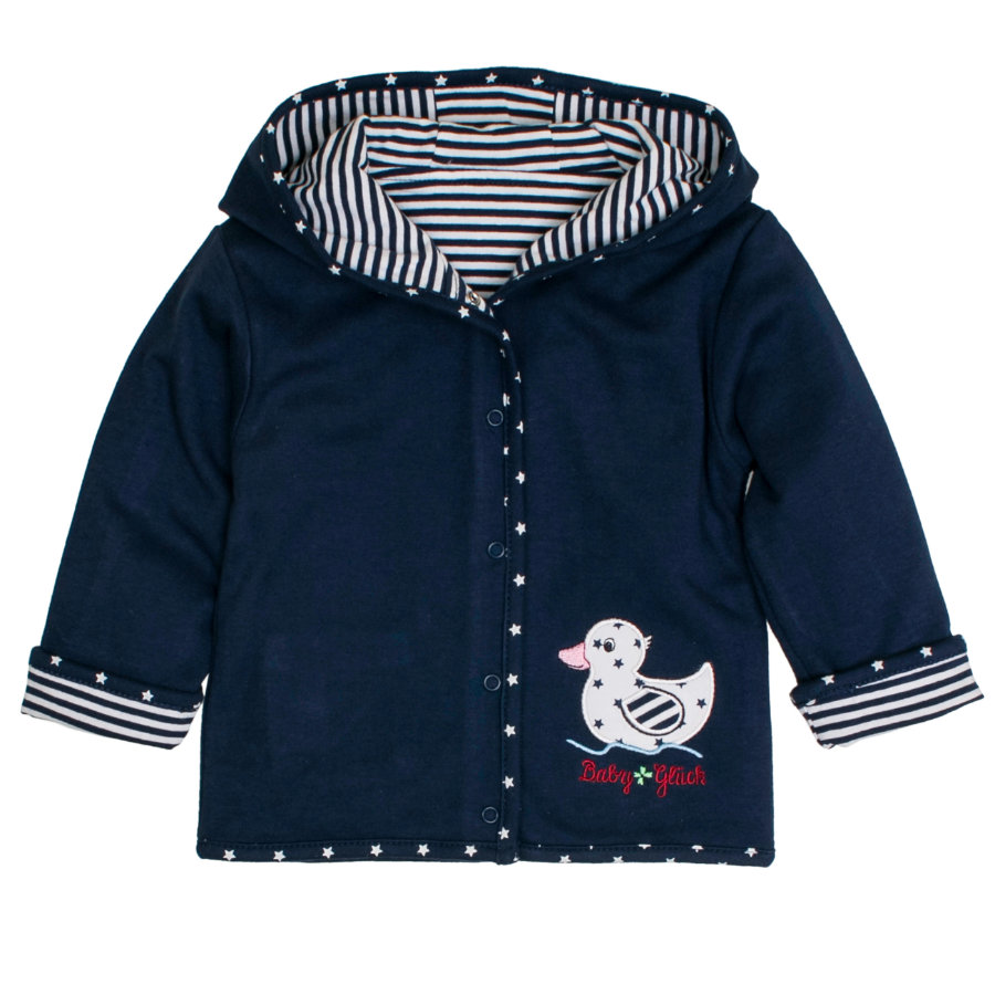 SALT AND PEPPER Baby luck Girl s omkeerbaar vestje eend marine blauw