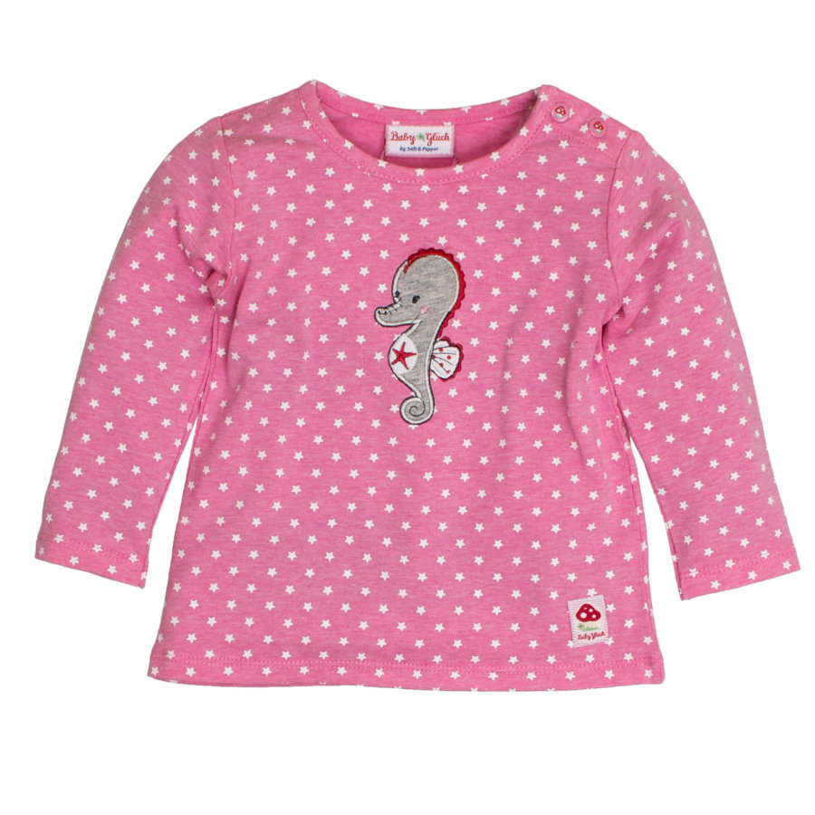 SALT AND PEPPER Baby Glück Girls Longsleeve Seepferdchen candy pink