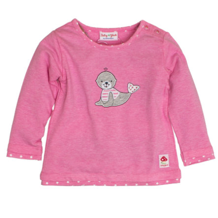 SALT AND PEPPER Baby Glück Girls Longsleeve Seehund candy pink