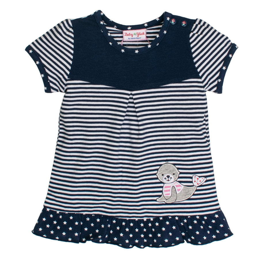 SALT AND PEPPER Baby Glück Girls Tunika Seehund navy blue