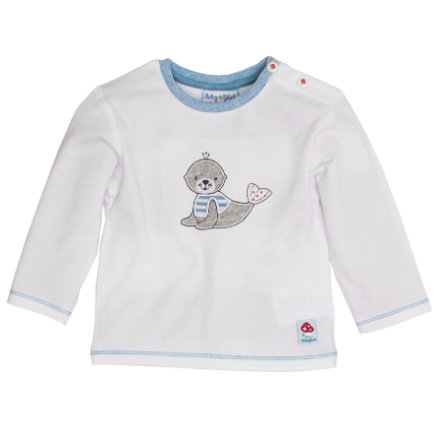 SALT AND PEPPER Baby Glück Boys Longsleeve Seehund white