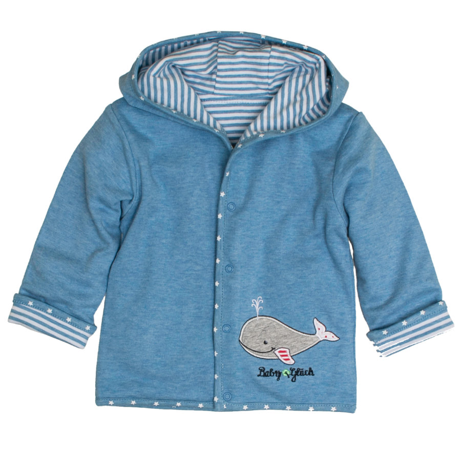 SALT AND PEPPER Baby Glück Boys Wendejacke Walfisch indigo blue