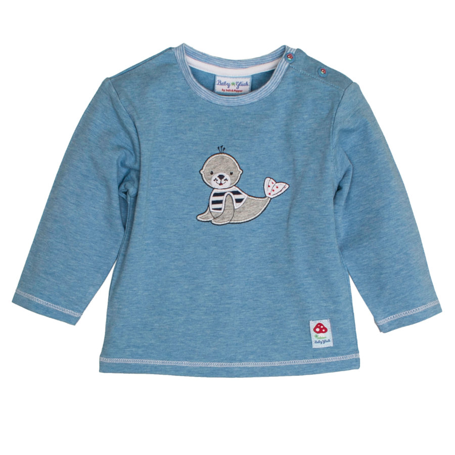 SALT AND PEPPER Baby Glück Boys Longsleeve Seehund indigo blue