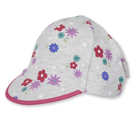 Sterntaler Girls Schildmütze Blume silber melange