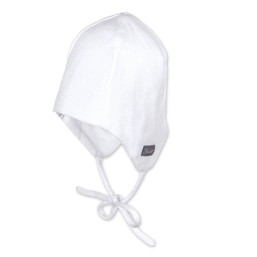 Sterntaler Strickmütze Jersey weiß - babymarkt.de 16a4f02ae92