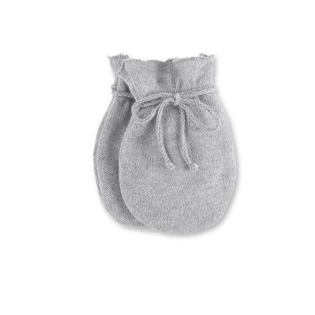 Sterntaler Poings rayés en tricot argent mélangé