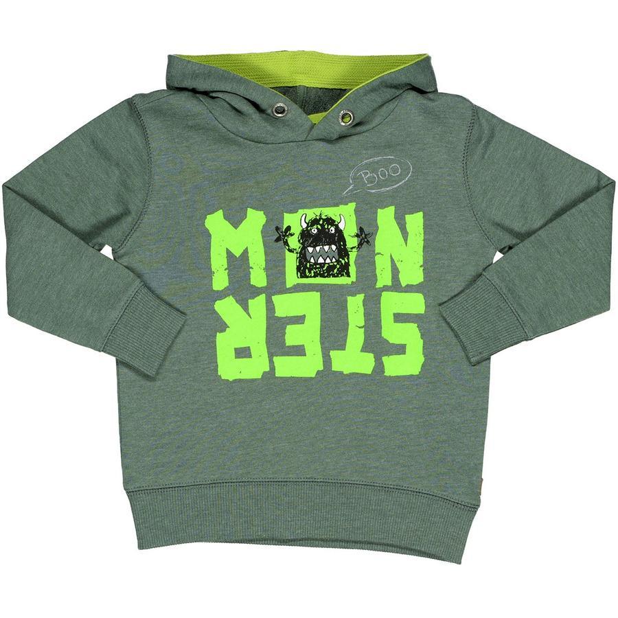 STACCATO Boys Kapuzensweatshirt oliv melange Monster
