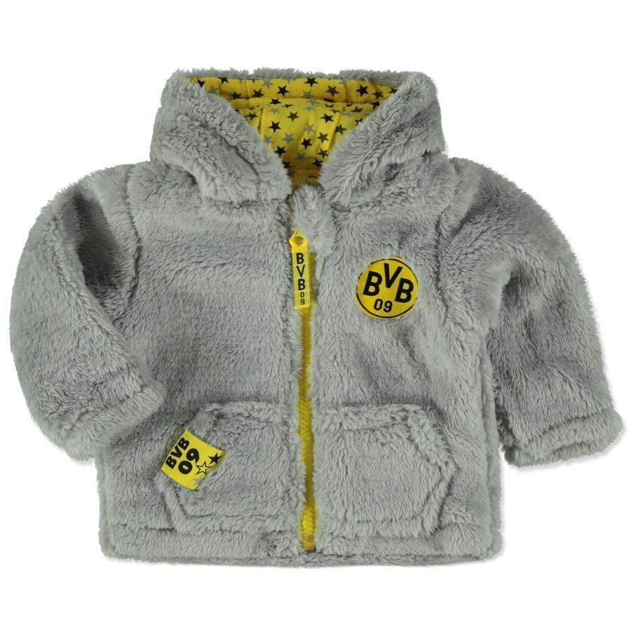 BVB-Teddyjacke grau
