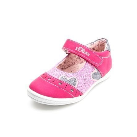 s.Oliver zapatillas Girl s sandalia corazón fuxia