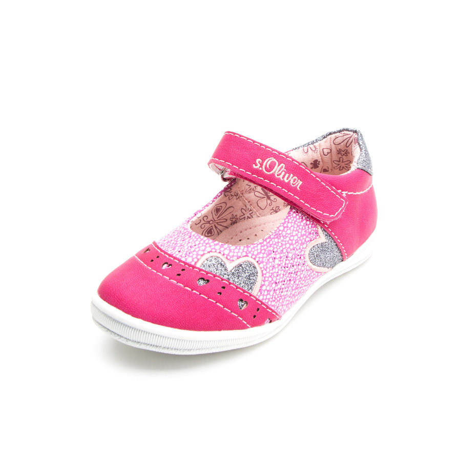 s.Oliver shoes Girls Sandale Herz fuxia