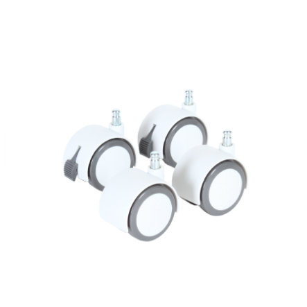 babybay Kit de roulettes pour parquet, blanc