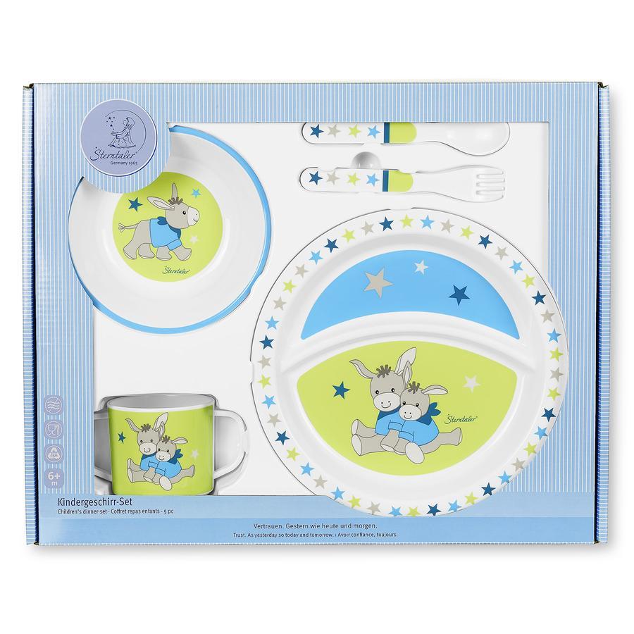 Sterntaler Kit vaisselle enfant Erik l'âne 4 pièces