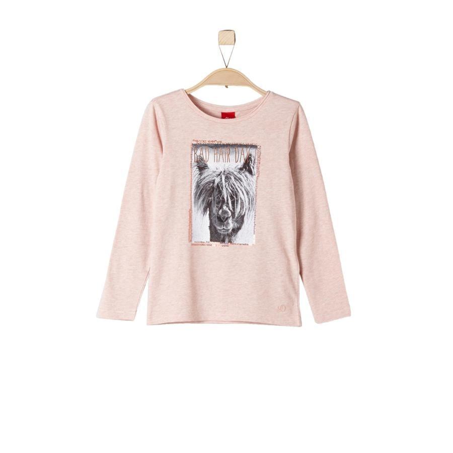 s.Oliver Långärmad tröja dark pink