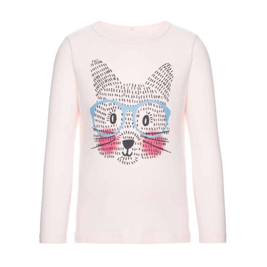 name it Girls Longsleeve Veencat pink dogwood