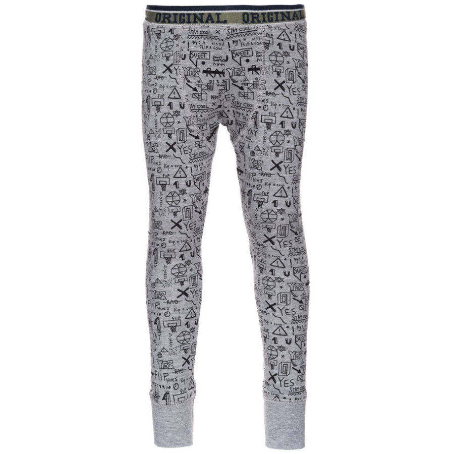 name it Boys Lange Unterhose Varnydui grey melange