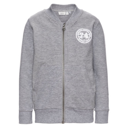name it Boys Sweatjacke Dimon grey melange