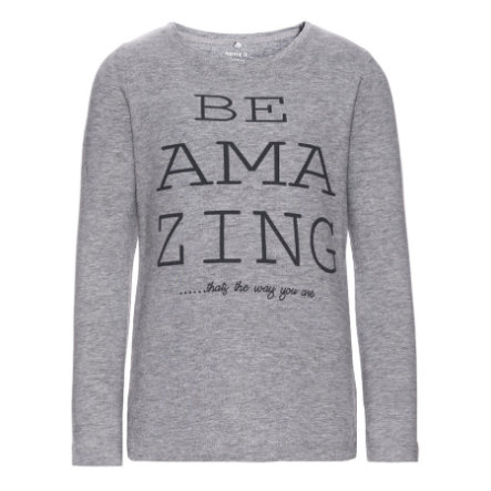 name it Girls Longsleeve Dana grey melange
