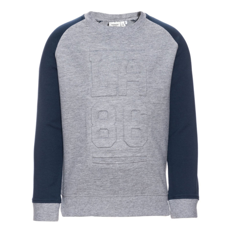 name it Boys Sweatshirt Jingo grey melange