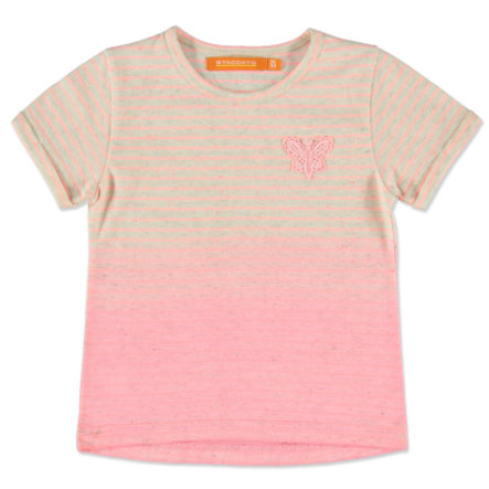 STACCATO Girl s T-Shirt neon melocotón rayas