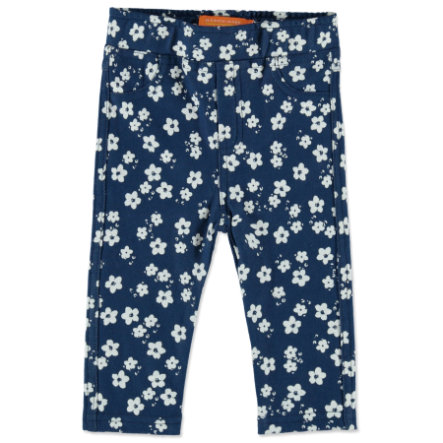 STACCATO Girls Jeggings jeans blue blumen