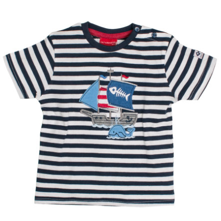 SALT AND PEPPER Boys T-Shirt Ringel crown blue