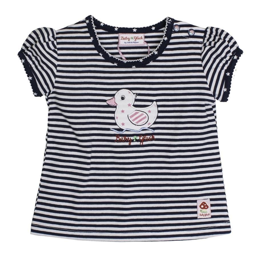 SALT AND PEPPER Bébé chanceux Girl T-Shirt canard rayures bleu marine