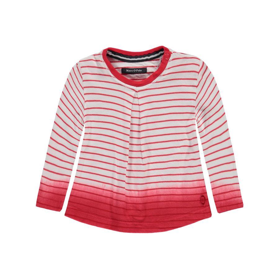 Marc O's Polo Girl 's Longsleeve Ringel rosso pomodoro