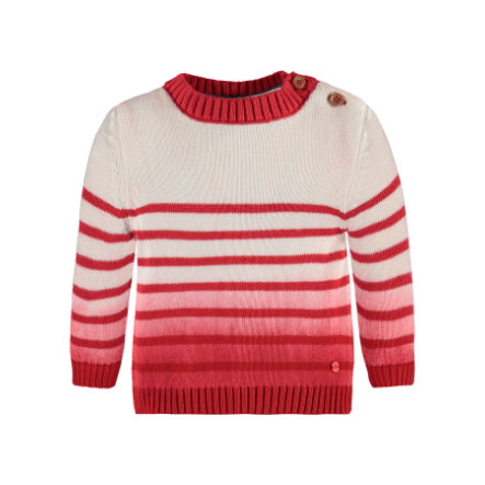 Marc O'Polo Girls Pullover Ringel tomato red