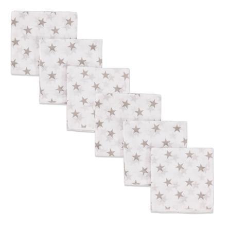 PINK NEBO MODRÉ gázové plenky 3-packové hvězdy
