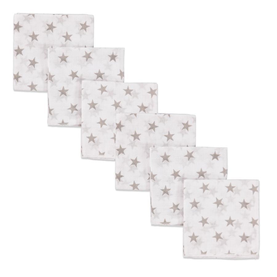 pink or blue Langes étoiles mousseline 80x80 cm, lot de 3