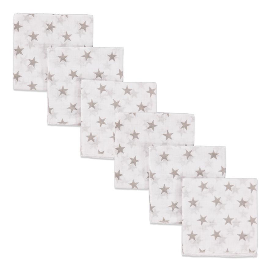 PINK OR BLUE Mullwindeln 6-er Pack Sterne