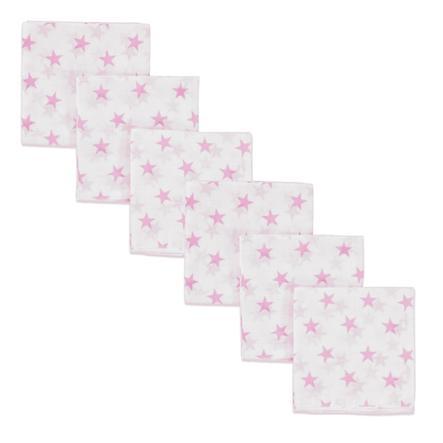 PINK OR BLUE Mullwindeln 6-er Pack Sterne pink