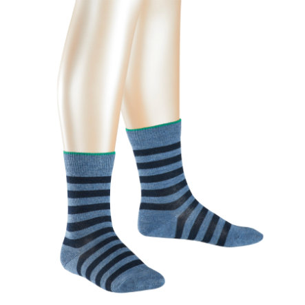 FALKE Socken Double Stripes light denim