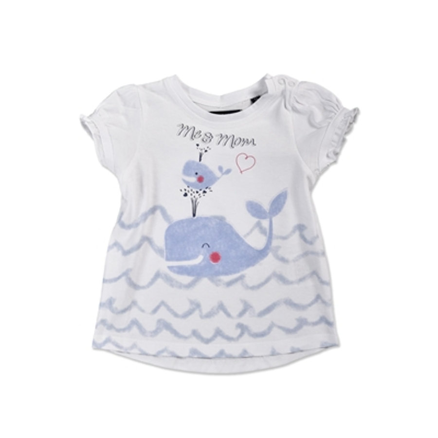 BLUE SEVEN Girls T-Shirt weiß Wal