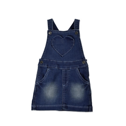 BLUE SEVEN Girls Latz-Jeanskleid
