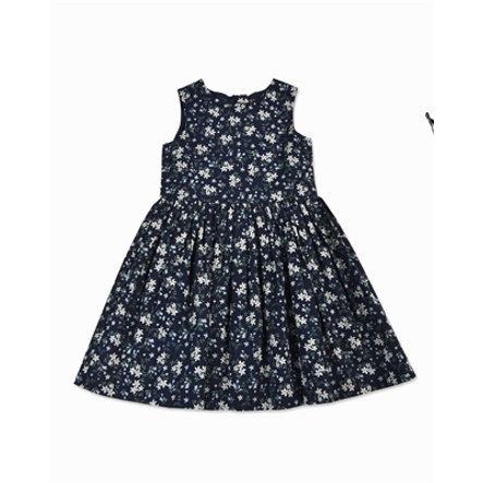 BLUE SEVEN Girl s robe d'été bleu foncé