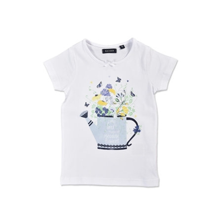 BLUE SEVEN Girls T-Shirt Gießkanne weiß