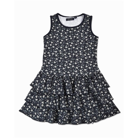 BLUE SEVEN Girls Kleid Blumen blau