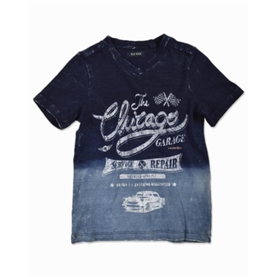 BLUE SEVEN Boys T-Shirt Vintage gewassen blauw