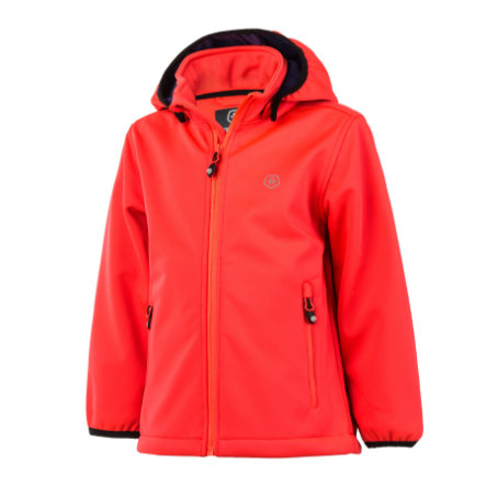 COLOR KIDS Softshell-takki Ralado, Fiery Coral