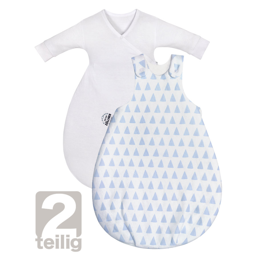 JULIUS ZÖLLNER Gigoteuse bébé Cosy Jersey triangle bleu