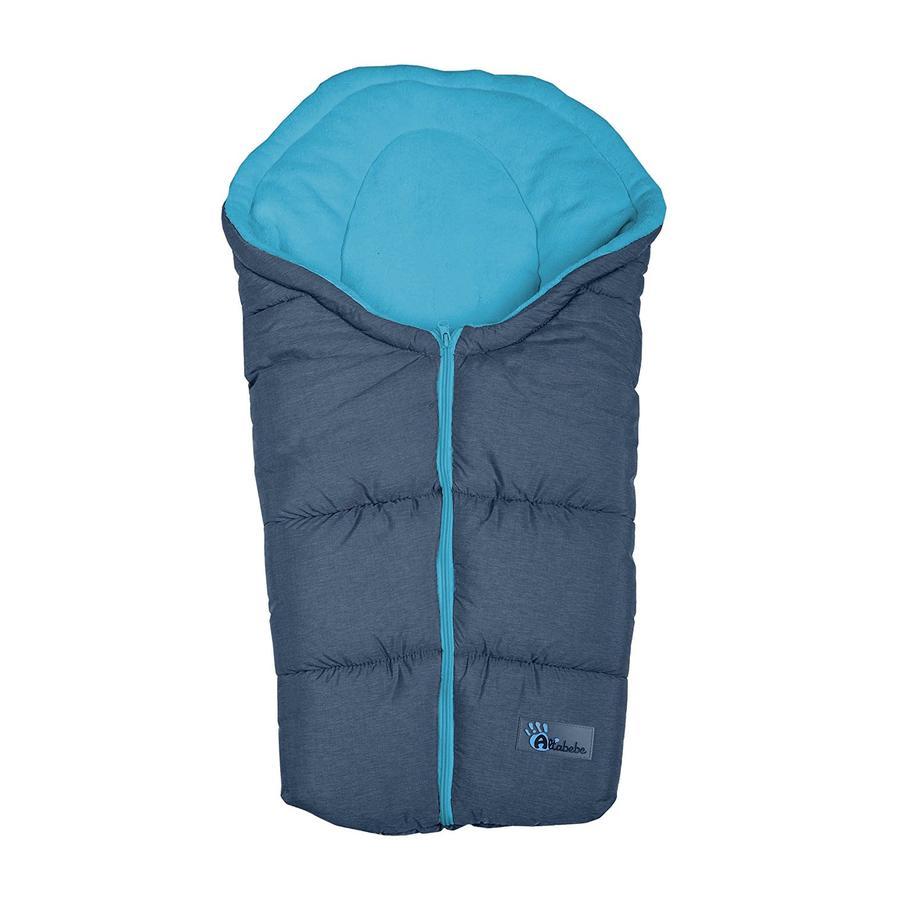 ALTABEBE Sacco a pelo invernale Alpin, per seggiolini auto grigio -blu