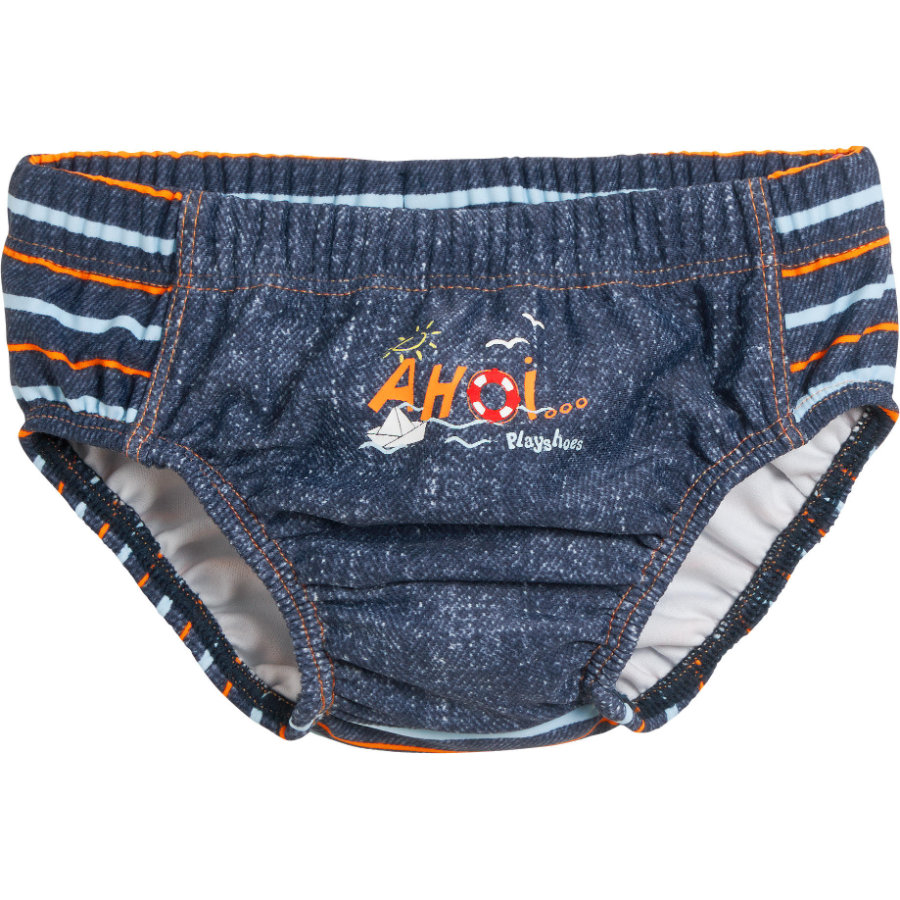 PLAYSHOES Boys Costumino Protezione Anti-UV Ahoi blu jeans