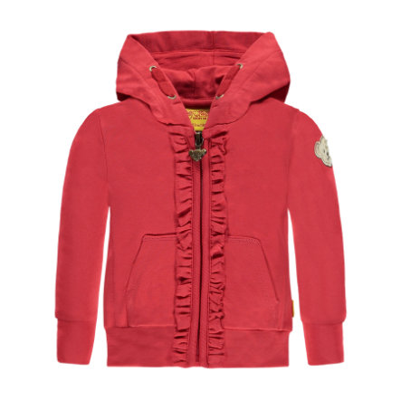 Steiff Girls Sweatjacke poisettia red